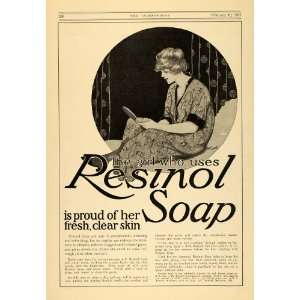 1917 Ad WWI Resinol Soap & Shampoo Clear Skin & Hair