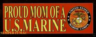 TWO PROUD MOM OF A US MARINE PIN BUMPER STICKER PIN