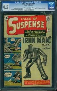 Suspense #39 CGC 4.5 1st Iron Man 1963 Avengers Movie 771 cm