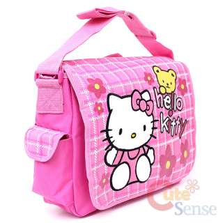 Sanrio Hello Kitty School Messenger Bag Diaoer Bag  Pink Flowers Teddy
