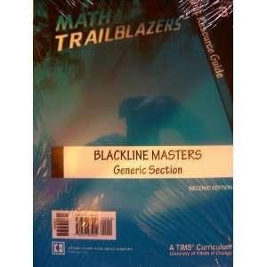 Math Trailblazers Grade 3 Unit Resource Guide Blackline Masters