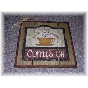 Kiss Me Good Morning Wooden Coffee Kitchen Signs Cafe Decor Wood