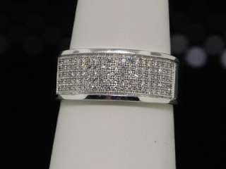 MENS DIAMOND WEDDING ENGAGEMENT BAND PAVE PINKY RING