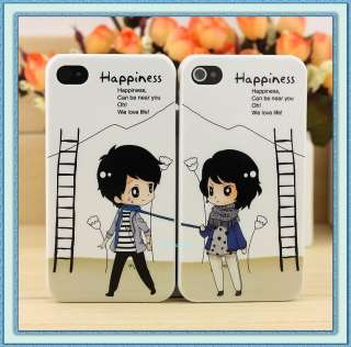 2pcs Boy+Girl Hard Valentine Lover Couple Case Cover for Apple iPhone