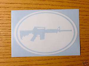 Colt .223 Armalite AR15 Rifle Assault Sticker Decal Ovl
