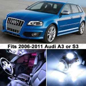 Audi A3 S3 WHITE LED Lights Interior Package Kit 8P (9
