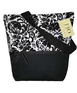 JoJo Designs Black and White Jacquard Handbag