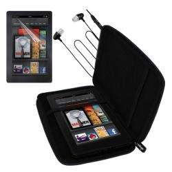 Premium  Kindle Fire Black EVA Case/ Screen Protector/ Headset