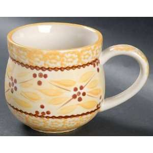 Temp Tations Old World Yellow Mug, Fine China Dinnerware