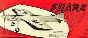 Vintage SHARK 15 Jetco Profile UC Stunt Model Airplane Kit PLAN |