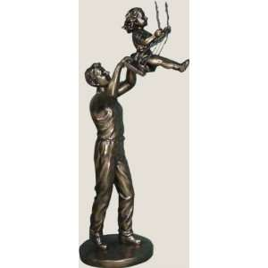 Father and Daughter Swinging Statue: Home & Kitchen