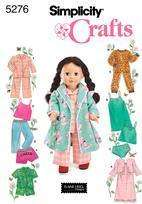 Doll Clothes Assorted Pajamas, Robe fit American Girl &18 doll