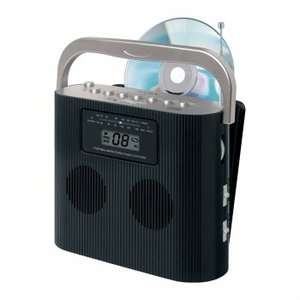 CD 470BK Portable Stereo Compact Disc Player With AM/FM Radio