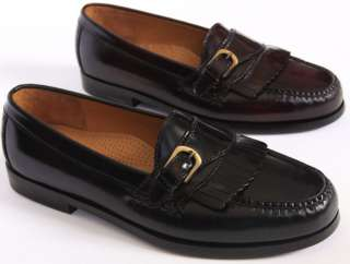 Pinch Buckle Black Burgundy Slip On Casual Dress Loafers Shoes
