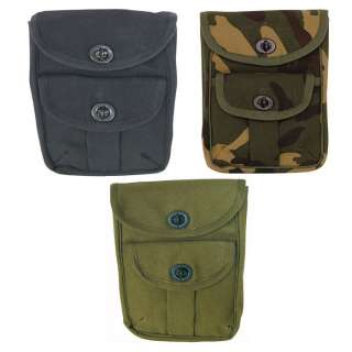.5x2 Cotton Canvas 2 Pocket Waist Pouch Military Ammo Bag w/Belt Loop