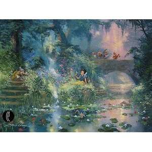 Snow White Picking Flowers Disney Fine Art Giclee By James