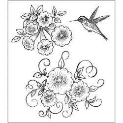 Heartfelt Creations Angel Trumpet Flower Rubber Stamps
