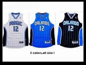 New Orlando Magic Dwight Howard Jersey #12 White Blue Black Mens S M L