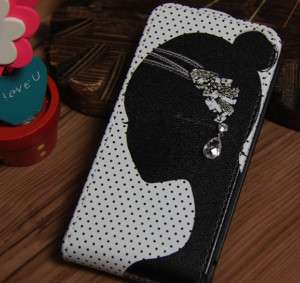 Earring Flip Skin Case Cover For Apple iPhone 4 4S case