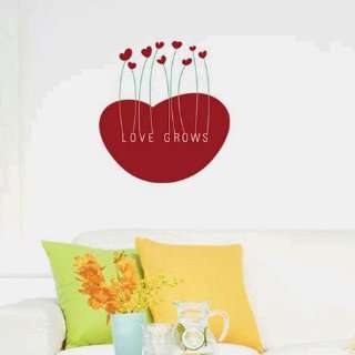 Love grows WALL DECOR DECAL MURAL STICKER REMOVABLE VINYL
