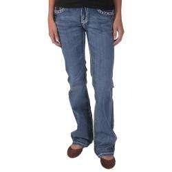 Medium Wash Rhinestone Embellished Bootcut Jeans