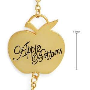 APPLE BOTTOMS New Necklace~Gen Crystal~Enamel~GoldPlt