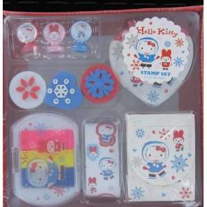 Japanese Sanrio Hello Kitty Stamp Set (Ice Skate) Toys & Games