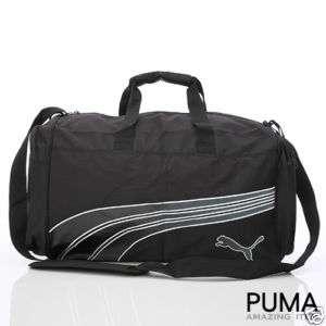 BN Puma Compactable Medium Duffle Gym Bag *Black*