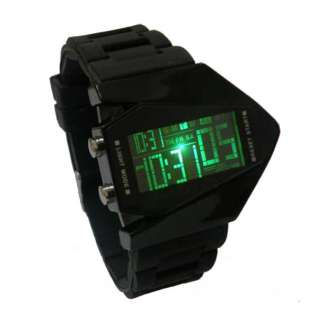 Multi color LED Backlight B 2 Spirit Stealth Bomber Electronic Watch