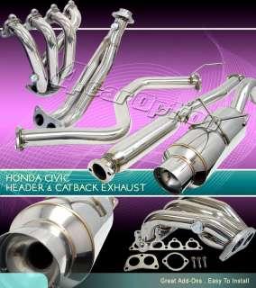 92 93 94 95 HONDA CIVIC 3DR HEADER + CATBACK EXHAUST