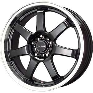 17X7.5 5 100/5 114.3 Drag Dr35 Gloss Black Machined Lip Wheels/Rims