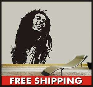 Viny Wall Bob Marley Decal Sticker huge decoration home
