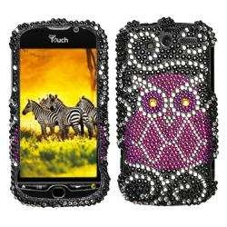 Premium HTC myTouch 4G Owl Rhinestone Case