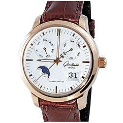 Glashutte Senator Mens 18k Rose Gold Calendar Watch