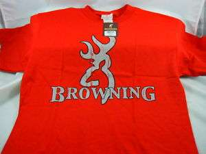 Browning SS Buckmark T shirt Authentic RED/GREY 3X 3XL
