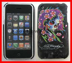 APPLE iPHONE 3G FACEPLATE COVER CASE ED HARDY SKULL NEW