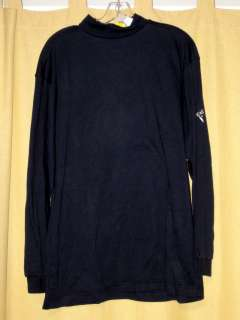 NEW CALLAWAY GOLF CLUBS LONG SLEEVE MOCK NECK NAVY BLUE SHIRT RETAIL $