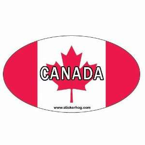 Country Flag Oval bumper sticker decal with CANDIAN FLAG Automotive