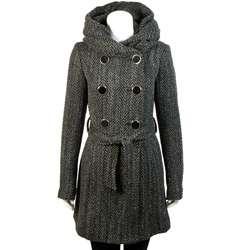 Louie Louie Junior Womens Wool Blend Herringbone Coat