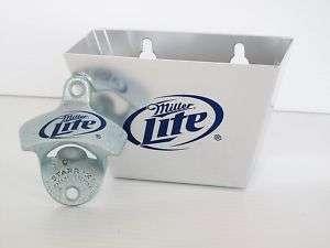 Miller Lite Beer Bottle Opener & Cap Catcher New