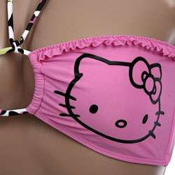 Hello Kitty Ruffle Bandeau Top Bikini (Non returnable)