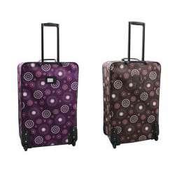 Rockland Designer Pearl 4 piece Luggage Set