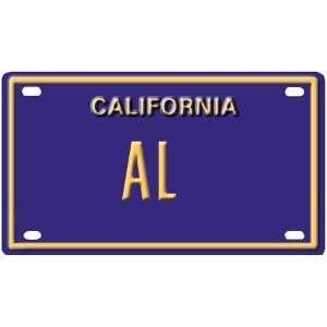 Al Mini Personalized California License Plate
