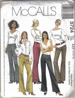 McCalls 3724 Misses Pants Sewing Pattern SZ 4 10