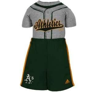 MLB adidas Oakland Athletics Infant 2 Piece Jersey Creeper & Shorts