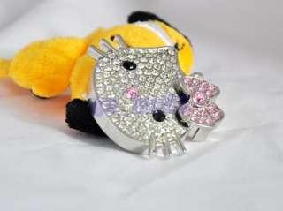 Silver 8 GB 8GB jewelry crystal hello kitty KT USB 2.0 Flash Stick