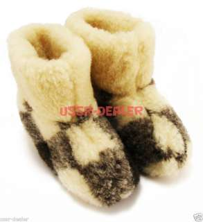 WOOL NATURAL SHEEPSKIN SLIPPERS BOOTS PURE 100%