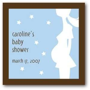 Custom Gift Tag Stickers   Boy Belly By Petite Alma