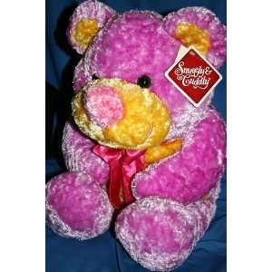 Large Snuggly & Cuddly Pink Plush Stuffed Teddy Bear 19