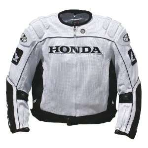Joe Rocket Honda CBR Mens Textile Mesh Motorcycle Jacket White/Black